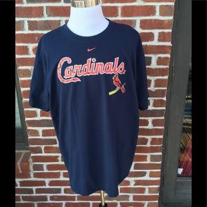 NIKE CARDINALS NAVY TEE  EXCELLENT USED CONDITION
